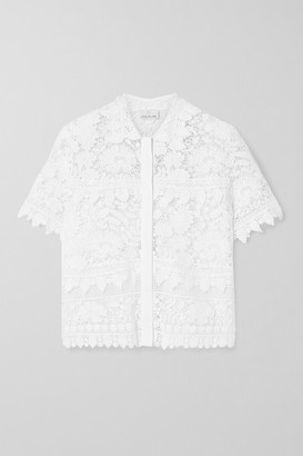 Miguelina Alanis Guipure Lace And Linen-voile Top