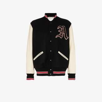 Gucci wool varsity bomber jacket