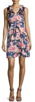 Saloni Lara Floral-Print Sleeveless Dress