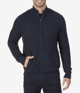 Nautica Full Zip Cable Knit Sweater