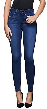Good American Raw Edge Skinny Jeans in Blue434