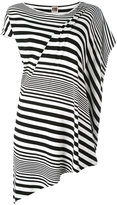I'M Isola Marras striped asymmetric T-shirt - women - Spandex/Elastane/Viscose - S