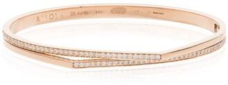 Repossi 18kt rose gold Antifer diamond double bangle