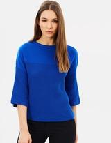 Karen Millen Contrast Knit Jumper
