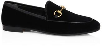 Gucci New Jordaan Velvet Loafers