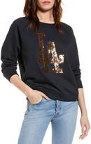 '47 Fade Out Boyfriend Sequin Graphic MLB Logo Sweatshirt