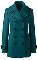 Lands' End Women's Tall Wool Peacoat-Gemstone Teal