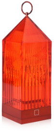Kartell Red Lantern Portable LED Lamp - Orange