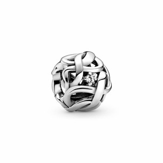 Pandora Women Sterling Silver Other Form Cubic Zirconia Charm - 798824C01