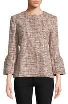 Helene Berman Tweed Bell-Cuff Jacket