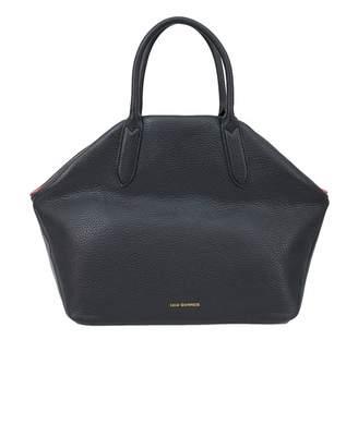 Lulu Guinness Valentina Peekaboo Lips Leather Bag Colour: BLACK, Size: