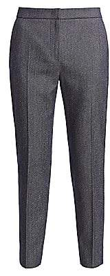 Max Mara Women's Tunisi Denim Effect Wool Slim Pants