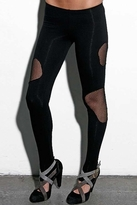 Blue Life Cut Me Out Insert Leggings in Black