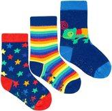 Jo-Jo JoJo Maman Bebe 3 Pack Bright Socks (Baby) - Navy-1-2