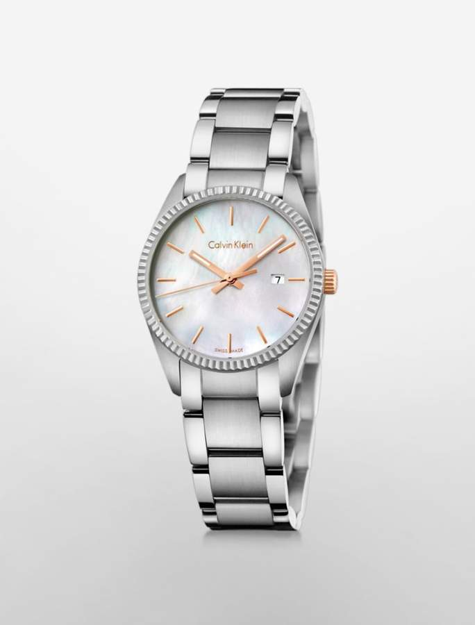 Calvin Klein alliance mother of pearl watch