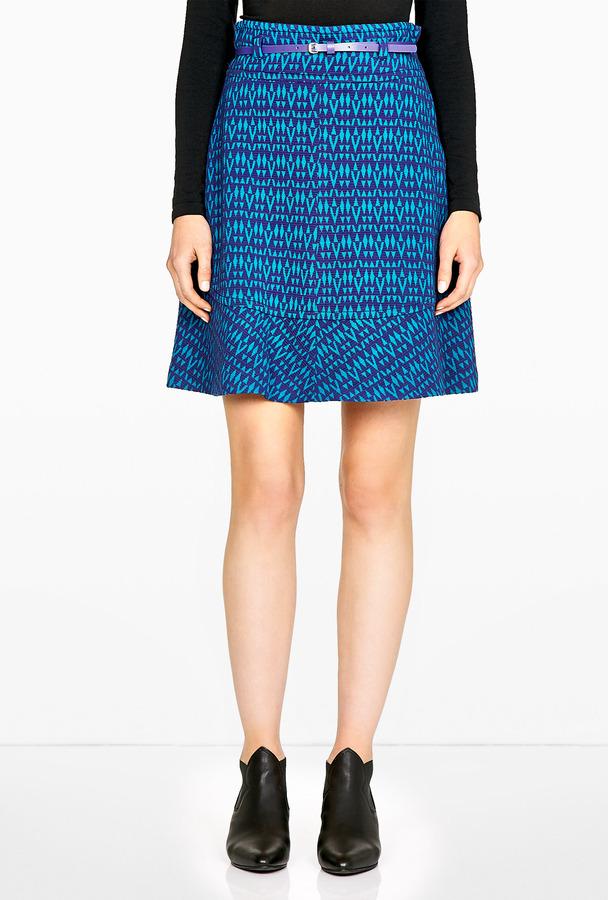 M Missoni Diamond Knit Flippy Skirt