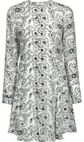 A.L.C. Randi Ruffled Printed Silk Mini Dress