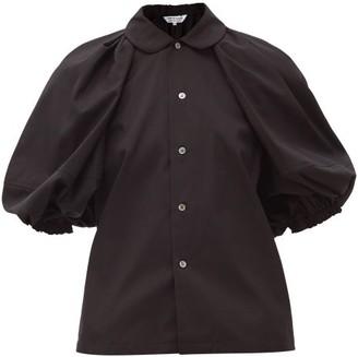 Comme des Garçons Comme des Garçons Puff-shoulder Cotton-poplin Blouse - Black