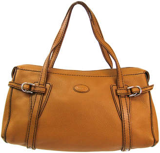 Tod's Camel Leather Duffle Bag