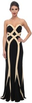 Faviana Jersey Two-Tone Strapless Dress 7571