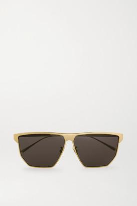 Bottega Veneta D-frame Gold-tone Metal Sunglasses