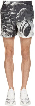 Valentino Floating Island Print Nylon Swim Shorts