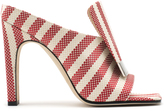 Sergio Rossi Red Striped Mules