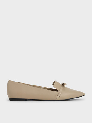 Charles & Keith Bow Tie Loafers