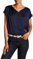 Catherine Malandrino Cuffed Keyhole Shirt