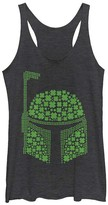 Fifth Sun Women's Tank Tops BLK - Star Wars Black Heather Boba Fett Four-Leaf Clover Racerback Tank - Women & Juniors