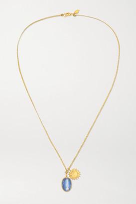 Pippa Small 18-karat Gold Kyanite Necklace - one size