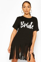 boohoo Bride Tassel Beach Dress
