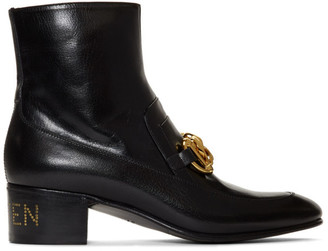 Gucci Black Ebal Ankle Boots