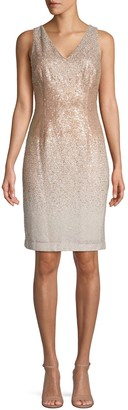 Calvin Klein Ombre Sequin Mini Sheath Dress