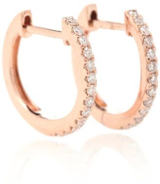 Jacquie Aiche Pave Mini Hoops 14kt rose gold with diamonds