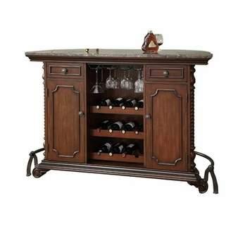 Tetrault 2-Door 2-Drawer Unit Bar Cabinet Canora Grey