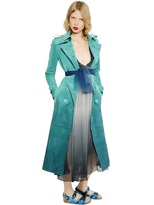 Burberry Prorsum - Suede & Patent Leather Trench Coat