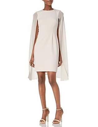 Calvin Klein Women's Sleeveless Sheath with Chiffon Caplet Overlay