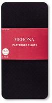 Merona Women's Tights Diamond Texture Black