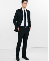 Express Modern Producer Black Wool Blend Twill Suit Pant