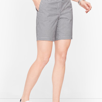"Talbots Relaxed Chino Shorts - 7"" - Gingham"