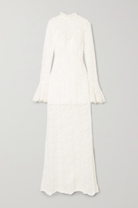 Les Rêveries Corded Lace Gown - Ivory