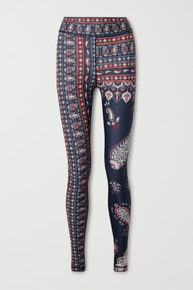 The Upside Fortune Paisley-print Stretch Leggings - Blue