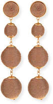 Lydell NYC Thread-Wrapped Ball Drop Earrings