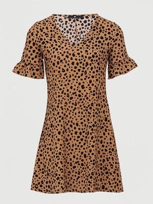 Very Printed Tea Dress - Animal Print