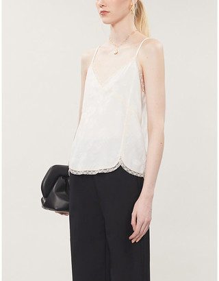 Zadig & Voltaire Christy silk cami top