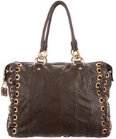 Miu Miu Grommet-Embellished Leather Bag