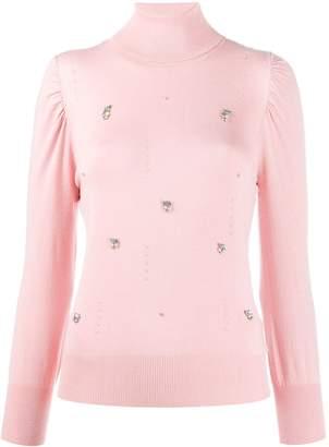 Liu Jo crystal-embellished jumper