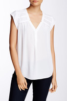 Daniel Rainn Pleated Shoulder Blouse (Petite)