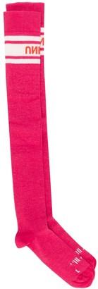 Unravel Project Logo Intarsia Socks